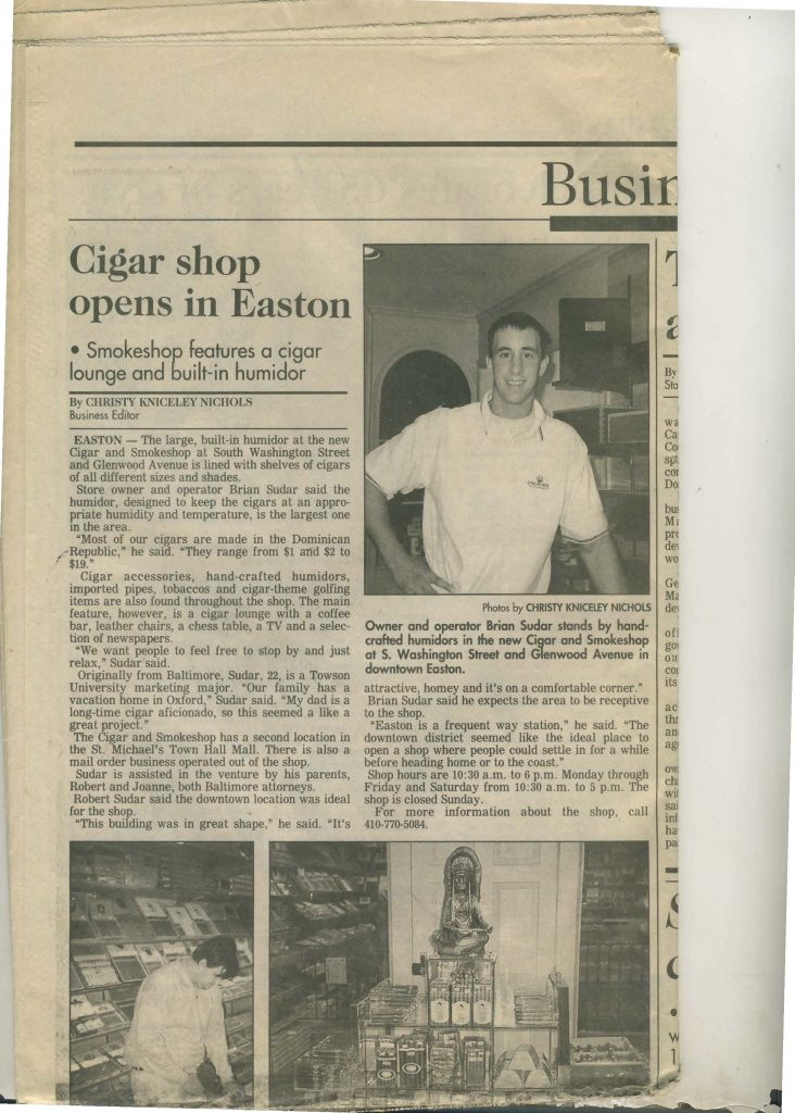 Brian-Suder-Easton-Cigar